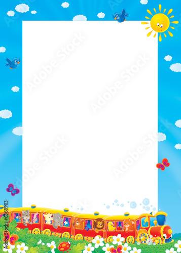 Stickers pour porte Pierre, Sable Summer photo-frame