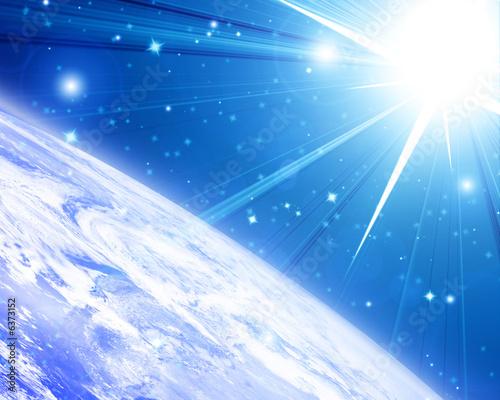 einzelne bedruckte Lamellen - Earth horizon (von Argus)