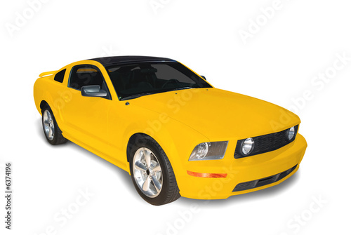 Photo  Yellow Sports Car