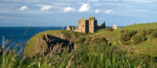 Dunottar Castle in Scotland Wallpaper Mural