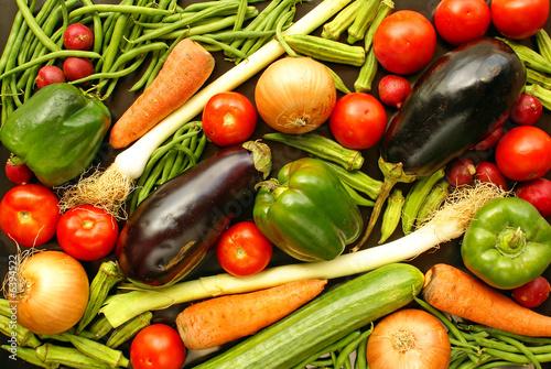 Fotobehang Background with vegetables