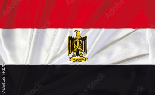 Fotografie, Obraz Drapeau egyptien / egypte