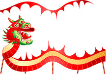 Vector Illustration Of Dancing Dragon In Chinese New Year