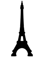 Eiffel Tower Paris Silhouette - VECTOR