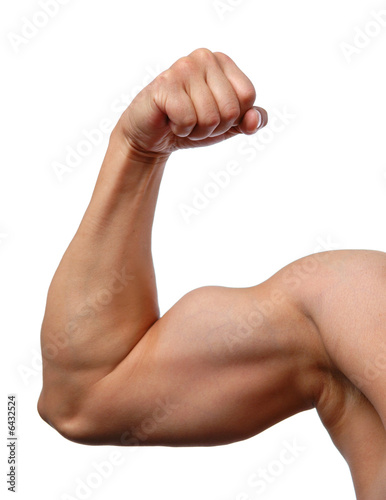 Fotografie, Obraz  Close up of man's arm showing biceps