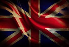 Worn British Flag