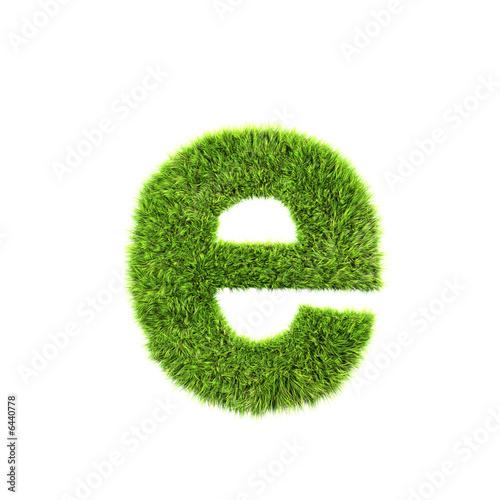 Valokuva  grass lower-case letter