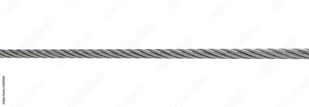 Fototapety, obrazy: steel cable isolated on white