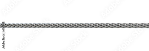 steel cable isolated on white Poster Mural XXL