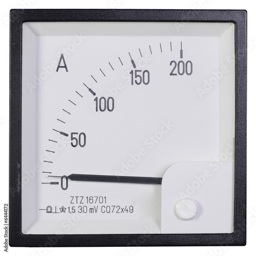 Photo The white modern industrial ammeter