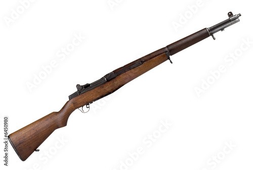 Fotografía  Military Rifle isolated over a white background