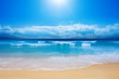 Leinwandbild Motiv Gorgeous Beach in Summertime