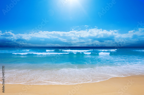 Foto-Leinwand - Gorgeous Beach in Summertime