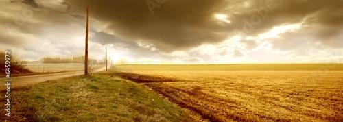 Foto op Plexiglas Blauwe hemel countryland 13