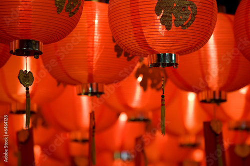 Photo  chinese paper lantern diagonal
