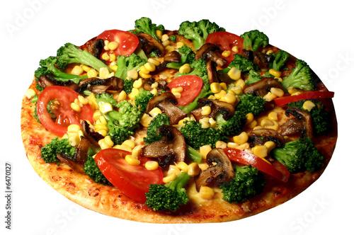 Fotografie, Obraz  Pizza broccoli tomaten