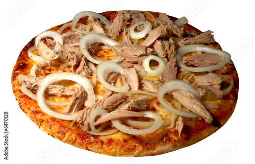 Fotografie, Obraz  Pizza zwiebeln tuna