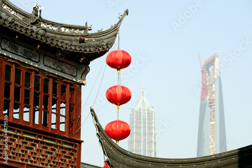 Yu Gardens, WF Center and Jinmao Tower, Shanghai, China Poster