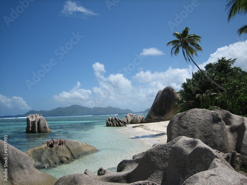 Foto op Canvas Tropical strand seychelles