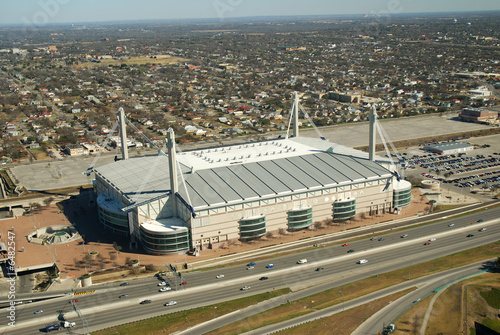 Foto op Plexiglas Stadion Aerial view of the Alamodome sports arena.
