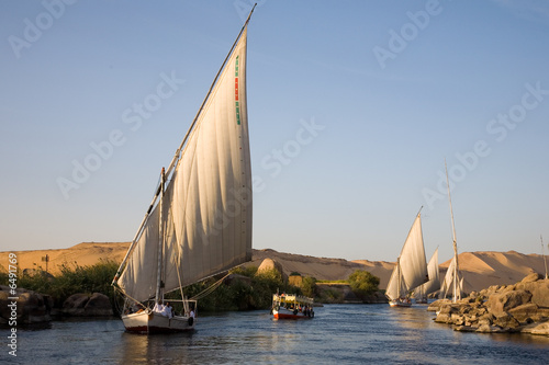 Photo Stands Egypt Felucca down the Nile