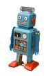 canvas print picture - retro robot toy