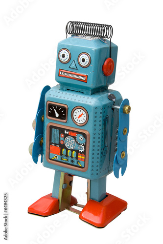 Photo  retro robot toy