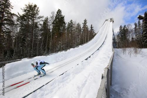 Poster Wintersporten winter extreme sport photo