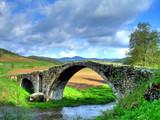 Old Roman bridge in mountain Rhodopi