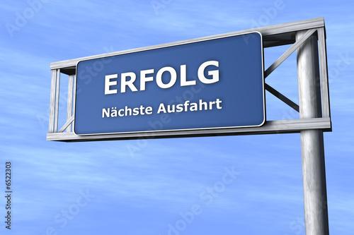 Fotografía  Verkehrsschild - Erfolg