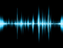 Graphic Of A Digital Sound On ...