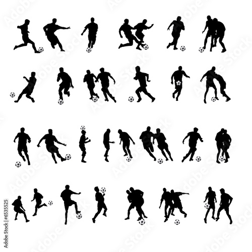 Fussballer Silhouetten Buy This Stock Illustration And