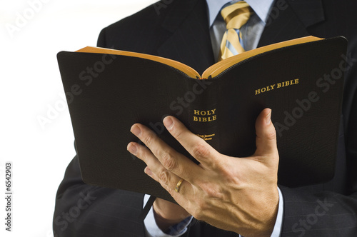 Fotografie, Obraz  Preacher with Bible
