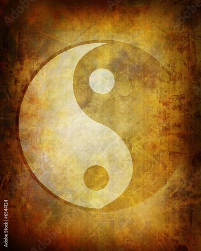 Fotomural Yin yang symbol