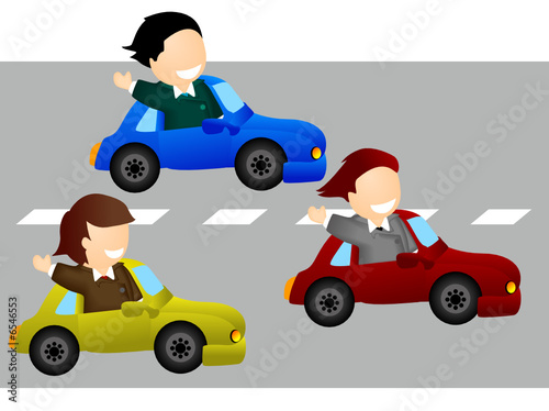 Recess Fitting Cars Business Race