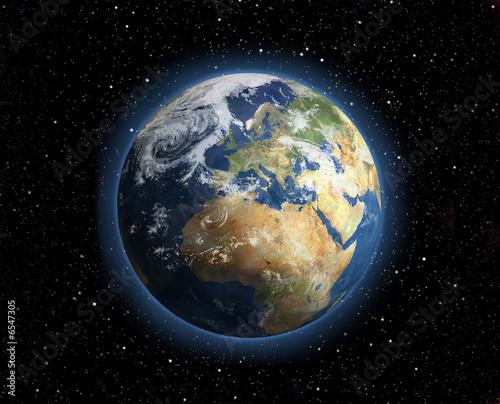 einzelne bedruckte Lamellen - Planet Erde, Illustration  (von Thomas)