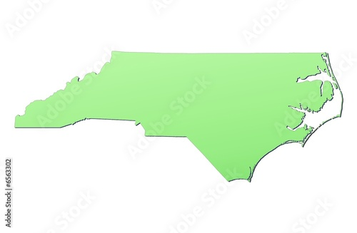 North Carolina (USA) map filled with light green gradient - Buy this ...