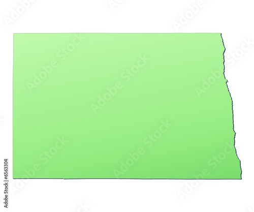North Dakota (USA) map filled with light green gradient - Buy this ...