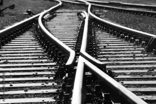 Photo Stands Railroad On the track