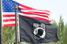 Us And Pow Flags