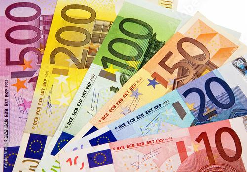 Fotografía  Europäische Banknoten