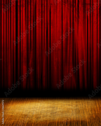 Fotomural Movie or theater curtain