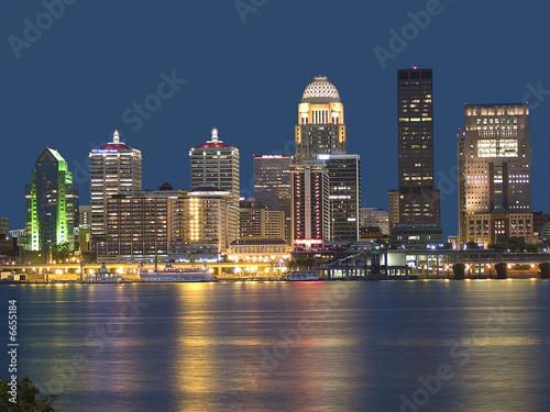 Foto op Aluminium Nachtblauw Skyline Color