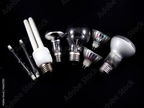 Obraz set of light bulbs - fototapety do salonu