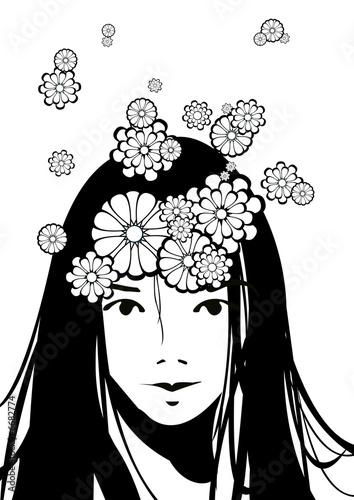 Floral femme flowerhead girl