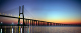Vasco da Gama bridge panorama at dusk