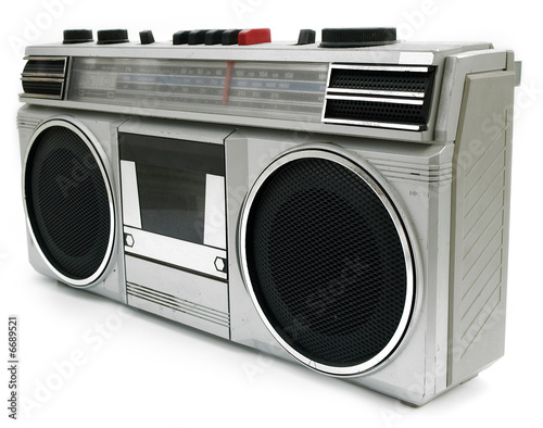 1980s style portable cassette player radio perfect for retro sty Wallpaper Mural