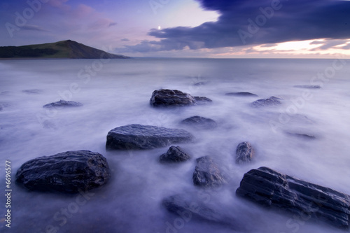 Foto-Leinwand - Rocks at Tan y Bwlch (von Scott Waby)