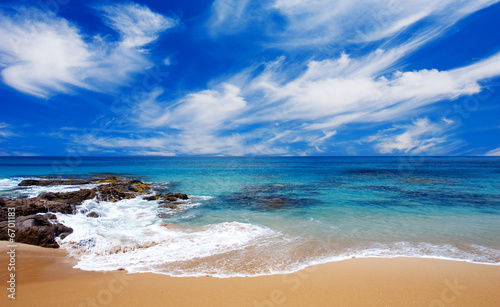 Foto-Leinwand - Peaceful Summer Beach (von Kwest)