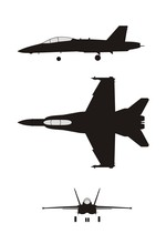 Silhouette Illustration Of Jet...